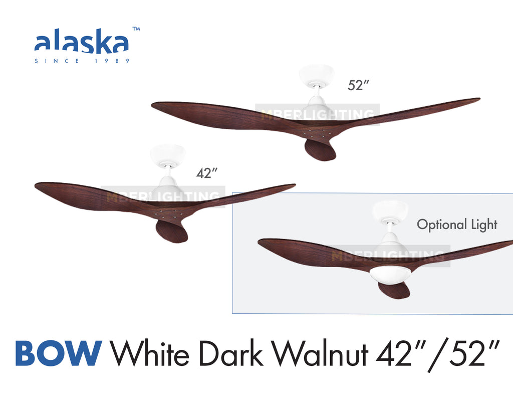 "Alaska BOW 42""/52"" White Dark Walnut Wood"