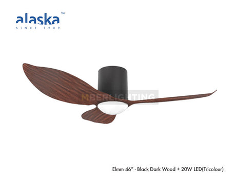 "ELMM 46"" Black Dark Wood"