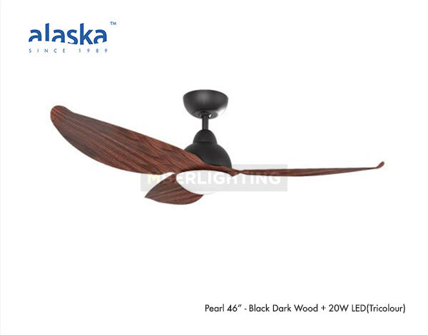 "Alaska PEARL II 46"" Black Dark Wood"
