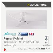 "RAPTOR 38""/48"" BLACK (24W LED Optional)"