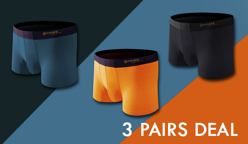 3 Package - Black/Blue/Orange - Prime Boxers