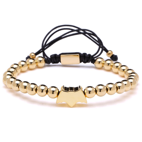 Paved Batman Charms Bracelet