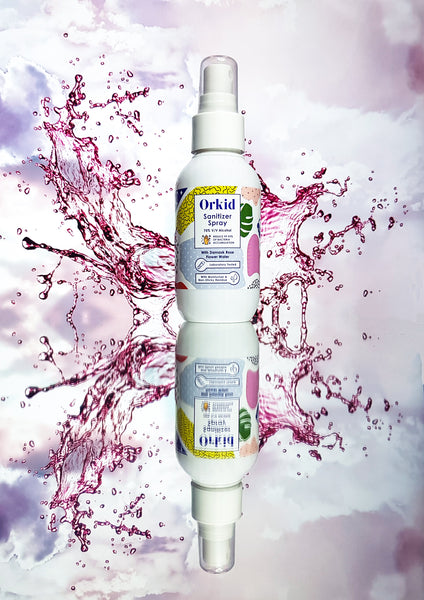 Orkid Hand Sanitizer Spray with Damask Rose Flower Water