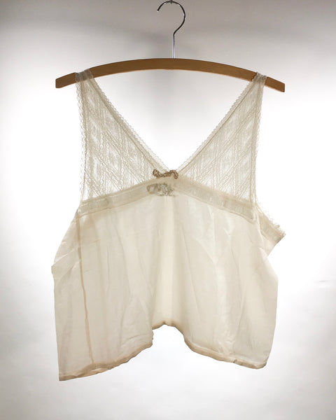 Victorian silk and lace camisole