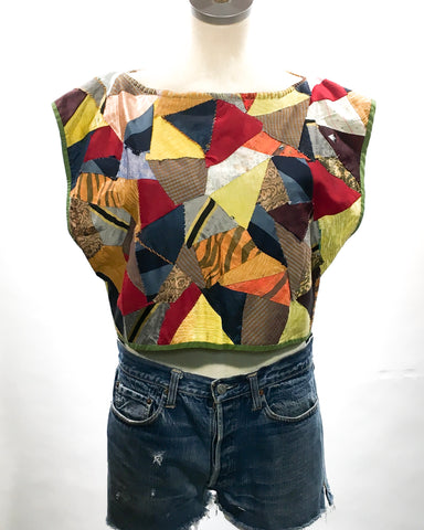 Handmade Crop Top from 1940s Quilt