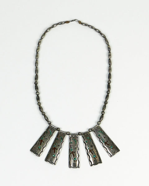 Native American Zuni Inlaid Necklace
