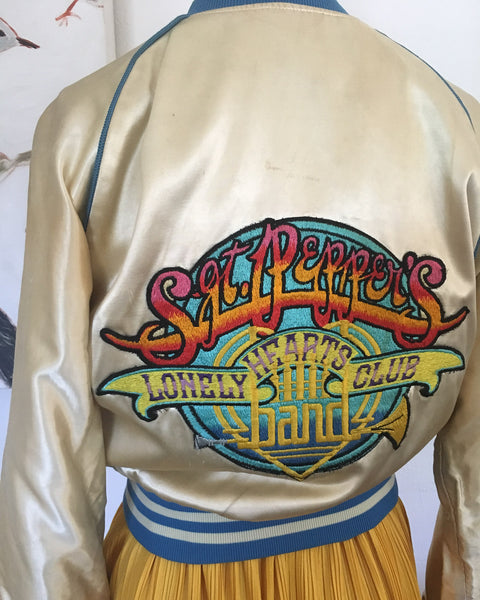 Satin Bomber Jacket | Beatles Sgt Peppers Lonely Hearts Club
