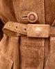 Gianni Versace Brown Suede Trench Coat