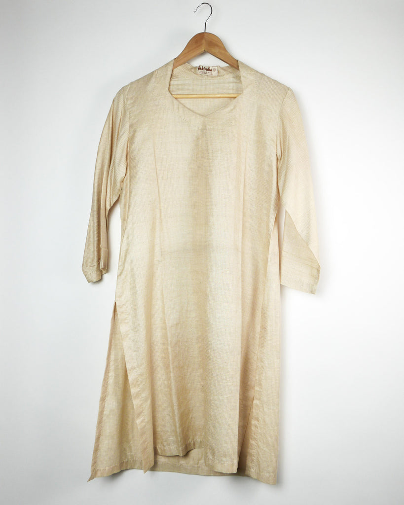 Indian Ivory Silk Tunic