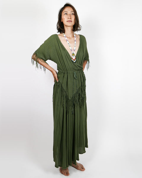 Moroccan Mossy Green Dress