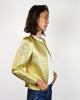 Quilted Gold 1980's Jacket