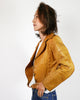 70's Whip Stitched Leather Free Bird Jacket