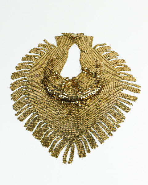 Chain Maille Brass Bib Necklace