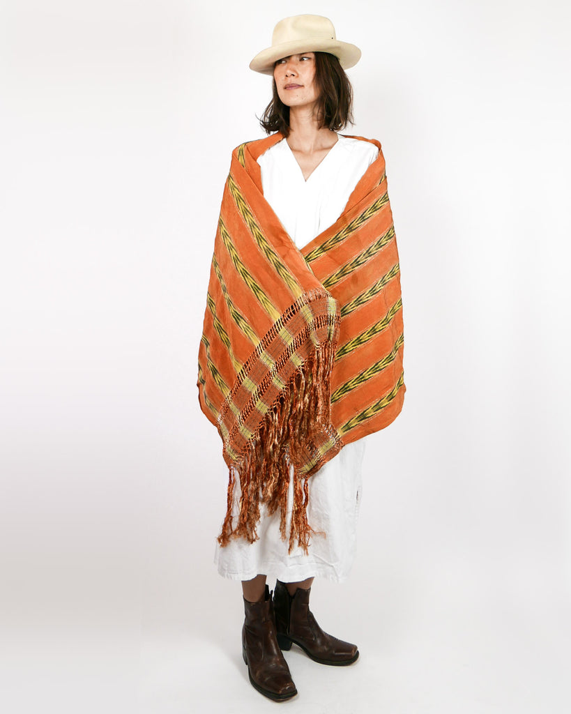 1940's Mexican Traditional Silk Rebozo