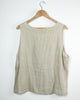 Oatmeal Flax Natural Sleeveless Top