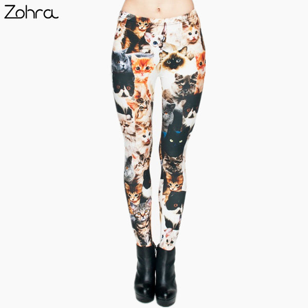 3D Full Printing Punk Women Legging