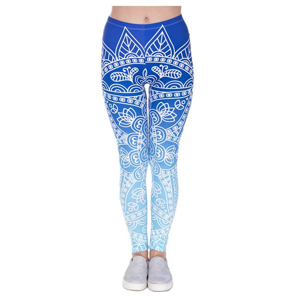 Hot Sales Leggings Mandala Mint Print Fitness legging