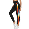 Wide Waistband Stripe Side Leggings