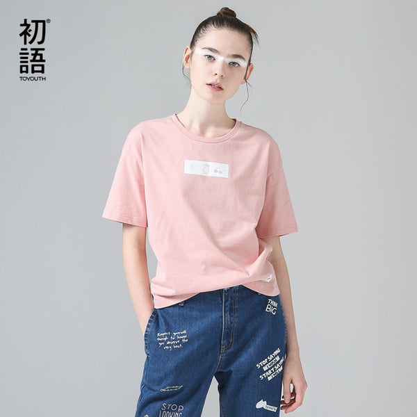 Funny Pattern Short Sleeve T-Shirts Top