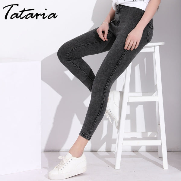 Women Skinny Blue Ladies Crochet Jeans