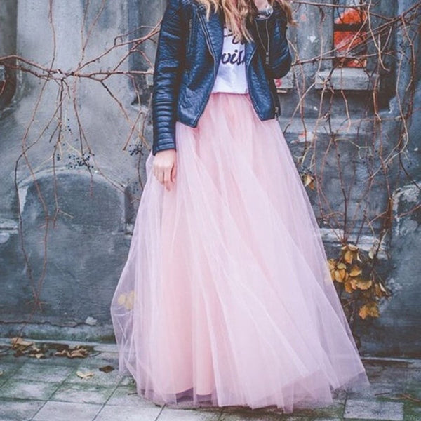 Womens Lace Princess Fairy Style Long Tutu Skirts