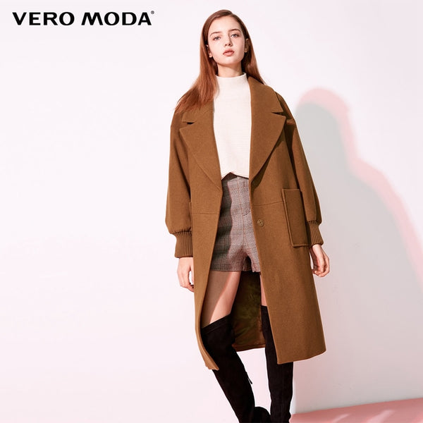 2019 new workplace loose lapel wool coat women