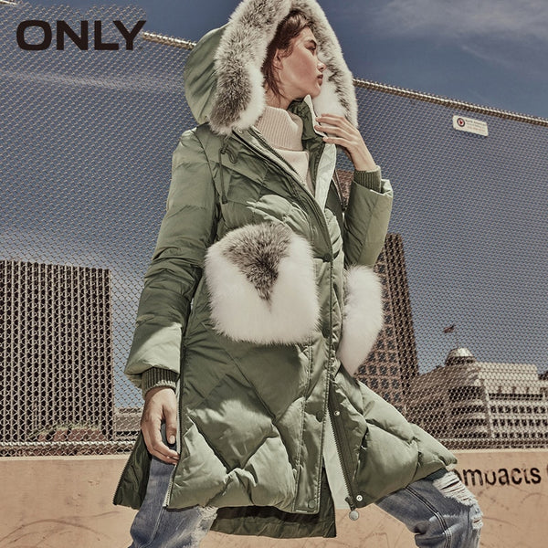 2019 Spring Summer New Women's Fox Fur Collar Loose Fit Jacket