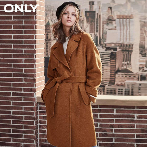 womens' winter new wool long coat with woolen coat