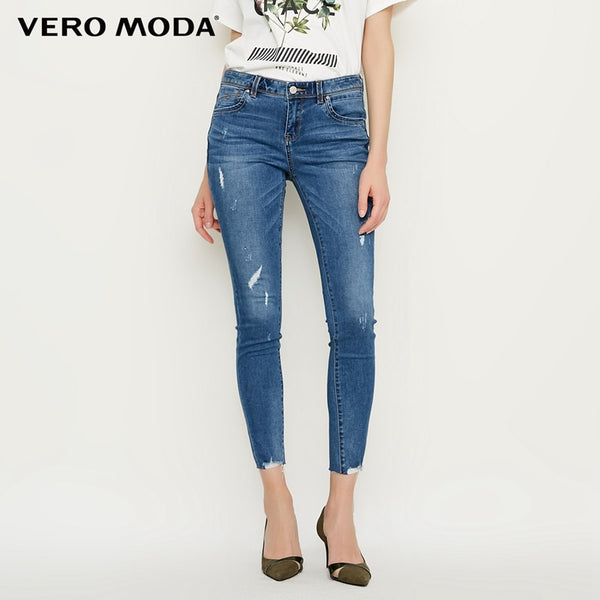 spring new slim cropped jeans women