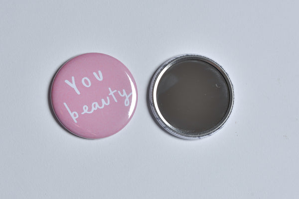 'You Beauty' Pocket Mirror | Old English Company |