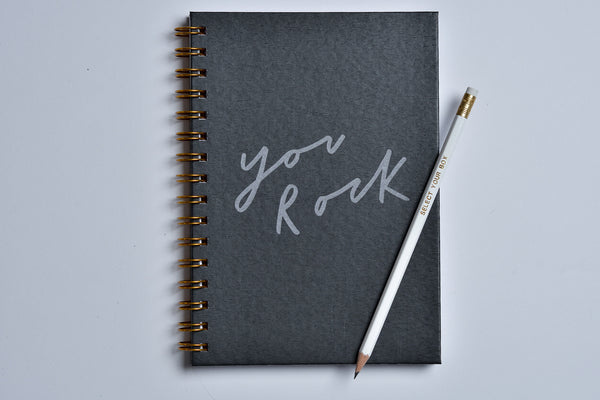 'You Rock' A5 Wiro Notebook | Old English Company