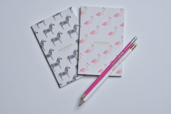 Flamingo & Zebra Pocket Notebooks | Duke & Rabbit