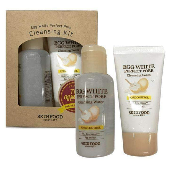 Skinfood Egg White Perfect Pore Cleansing Trial Kit (Foam + Water)