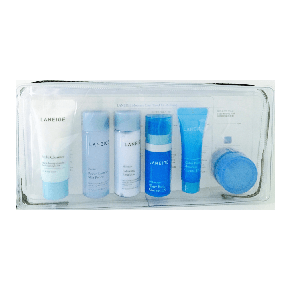 Laneige Moisture Care Travel Trial Kit 6 Items Korean Kiwi Beauty Multi Cleanser