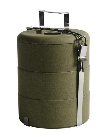Bambus Lunch Box, Olive, Large - Nordal