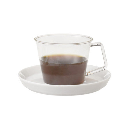 Cast coffee cup & saucer - Kinto