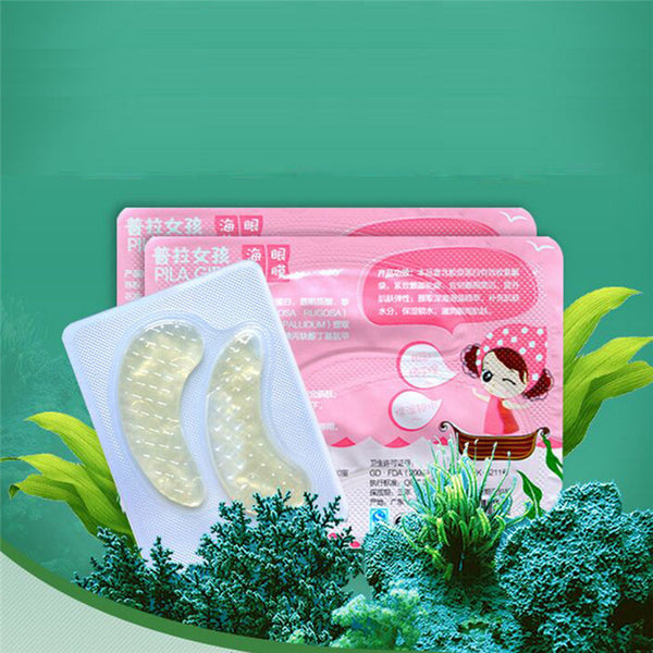 10pcs=5 Pairs PILATEN Under Eye Patch Lift Anti-Wrinkle Moisture Seaweed Collagen Eye Mask 6g*5 Free Shipping