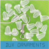 1000pcs/bag Clear Plastic Earwire Earnuts Clutch Bullet Earring Backs Stoppers 4x5mm