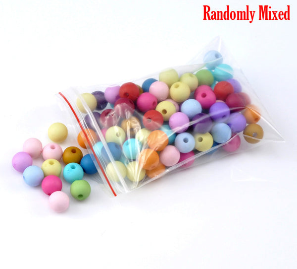 "DoreenBeads hot- 300PCs Mixed Round Acrylic Spacer Beads 8mm(3/8"") Dia.(B19525)"