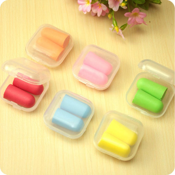 Travel Sleep Noise Prevention Earplugs Soft Foam Ear Plugs Noise Reduction For Travel Sleeping 2pcs