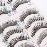10 Pairs Styles Mix False Eyelashes Handmade Makeup Natural Long Fake Eye Lashes Set