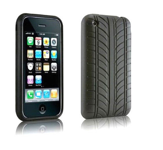 Black Phone Silicone cover For iphone 3GS case Tyre Style Silicone Coque cover for iPhone4G/5/5s/5c/6/6 plus/7/7PLUS/ touch5 6