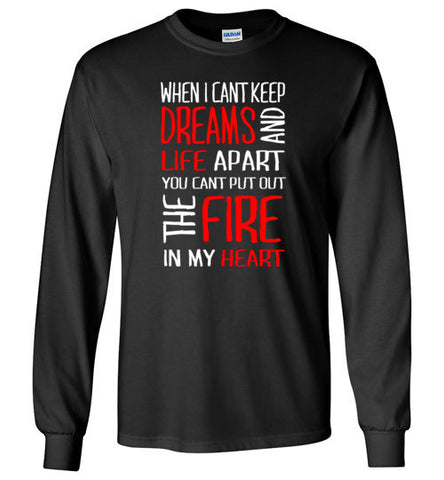 The Fire in my Heart Long Sleeve Tee [RB]