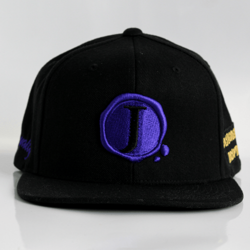 Jacob's by OAB® Caps BLACK ROYALTY SEAL FLAT BRIM SNAPBACK