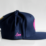 Jacob's by OAB® Caps NAVY BLUE LOVE SEAL FLAT BRIM SNAPBACK