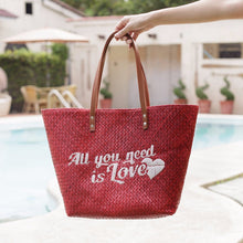 Load image into Gallery viewer, Quote Tote: All You Need Is Love - Island Girl