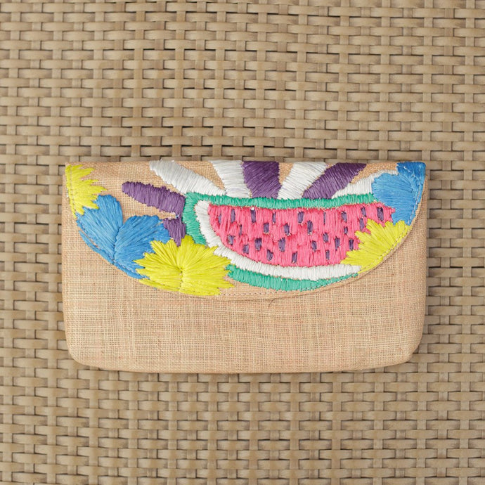 Embroidered Envelope Clutch: Andi - Island Girl
