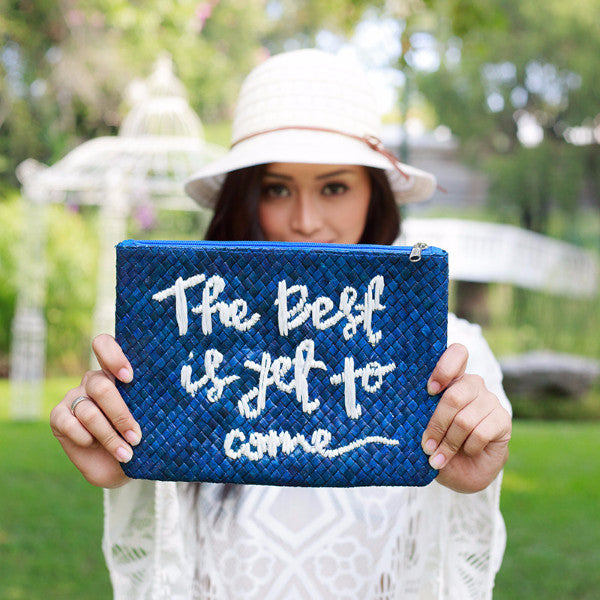 Quote Clutch Bag