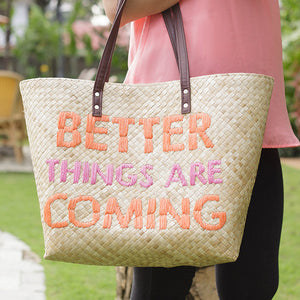Quote Tote Better Things Are Coming Island Girl