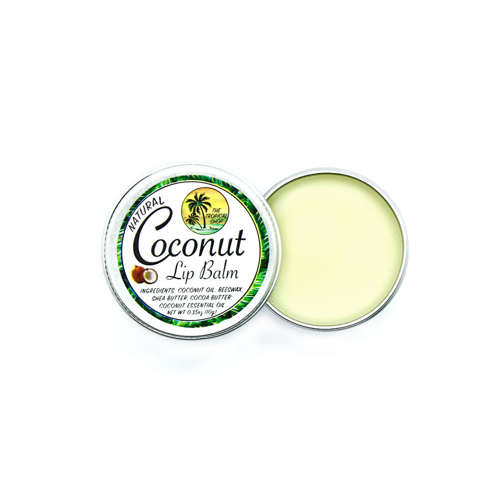 The Tropical Shop Natural Coconut Lip Balm - Island Girl